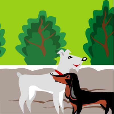 2 petits chiens